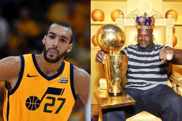 """Shaquille O'Neal To Rudy Gobert: """"There's No Crying In Basketball Rudy, Man Up"""""""