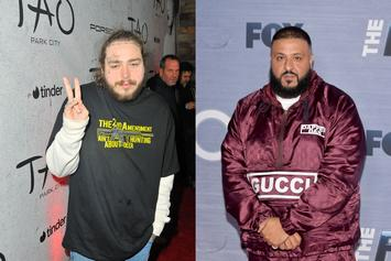 "Post Malone & His ""Dad"" DJ Khaled Link Up For ""Father Of Asahd"" Anthem"