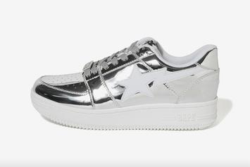 BAPE Bapesta Releases In Gold And Silver Foil Colorways