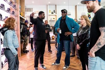 Michael Jordan Flexes Travis Scott Air Jordan 1 s At Social Status Reopening 318fa607a