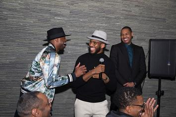 Carmelo Anthony, Chris Paul Present Dwyane Wade With Hollywood Star: Video