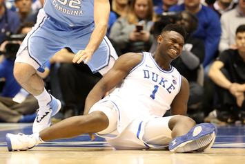 "Duke's Zion Williamson To Miss 3rd Straight Game Since ""Sneaker Implosion"""