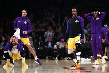 """Lance Stephenson """"Crosses"""" Jeff Green, Lakers Bench Goes Absolutely Wild"""