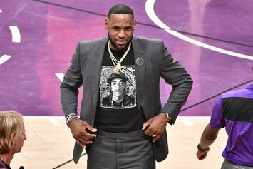LeBron James Tributes Nipsey Hussle With Special Shirt At Lakers Game