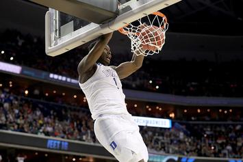 """Zion Williamson Throws Down Dunk For Couple's """"Gender Reveal"""" Video"""