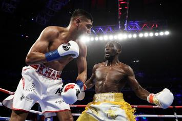 """Terence Crawford Says Amir Khan Took """"Easy Way Out"""" After Low Blow"""