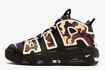 """""""Camo"""" Nike Air More Uptempo Set For June Release: Detailed Images"""