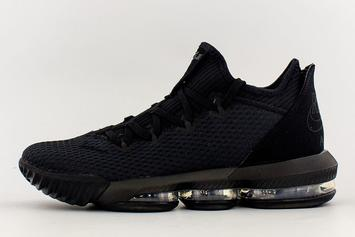 "Nike LeBron 16 Low ""Triple-Black"" Coming Soon: First Look"