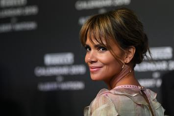 "Halle Berry Flaunts Her Shaved Head At ""John Wick 3: Parabellum"" Premiere"