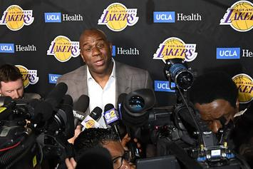 "Magic Johnson Talks Lakers Betrayal: ""It's Only With Rob Pelinka"""