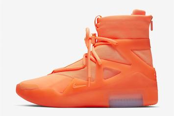 "Nike Air Fear Of God 1 ""Frosted Spruce"" & ""Orange"" Releasing At Select Foot Lockers"