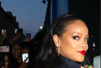 Rihanna Teases A BTS Clip Of Her In The Studio