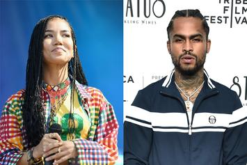 Jhené Aiko & Dave East Get Pretty Close In Governor's Ball Photos