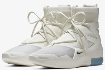 """Nike Air Fear Of God 1 """"Sail/Black"""" Release Date, Official Photos"""