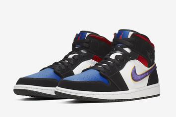 "Air Jordan 1 Mid SE Mixes ""Top 3"" & ""Lakers"" Colorways: Official Photos"