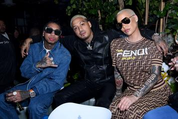 Amber Rose's Baby Daddies Wiz Khalifa & AE Party Together At The Club