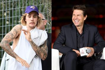 """Justin Bieber Back Tracks On Tom Cruise Fight: """"He Has Dad Strength"""""""