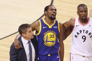 "Kevin Durant Is Reportedly ""Really Pissed"" At Warriors After Injury"