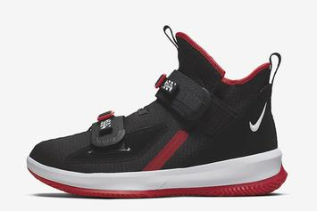 "Nike LeBron Soldier 13 Set to Drops In ""Bred"" Colorway: Detailed Look"