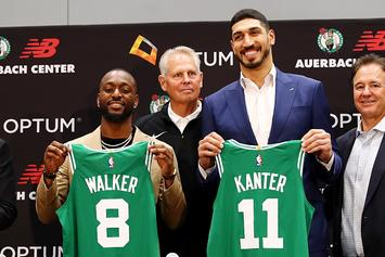 Enes Kanter Mocks Kyrie Irving When Discussing Why He Chose No. 11