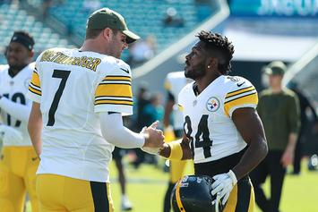 """Antonio Brown Quizzed By Son, """"Where's Roethlisberger?"""": Video"""