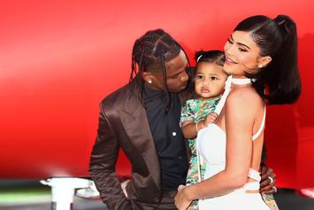 """Travis Scott & Kylie Jenner Lay On The PDA At The """"Look Mom I Can Fly"""" Premiere"""