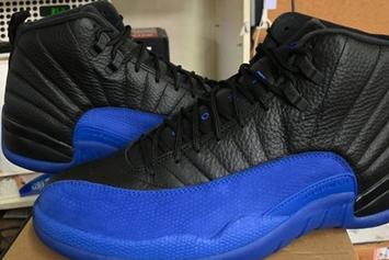 "Air Jordan 12 ""Game Royal"" Rivals The ""Flu Game"" In New In-Hand Photos"