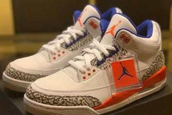 "Air Jordan 3 ""Knicks"" Updated Release Date Revealed: In-Hand Look"