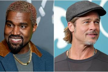 Kanye West & Brad Pitt Reportedly Bond Over Fatherhood