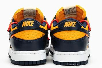 """Off-White x Nike Dunk Low """"Gold/Navy"""" Coming Soon: Best Look Yet"""
