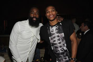 James Harden, Russell Westbrook Look Like BFFs At Drake's Show In Vegas