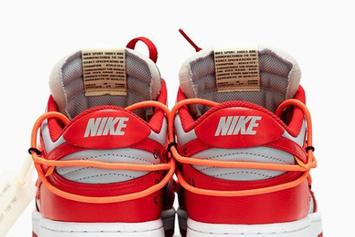 """Off-White x Nike Dunk Low """"University Red"""" Drops Soon: Detailed Photos"""