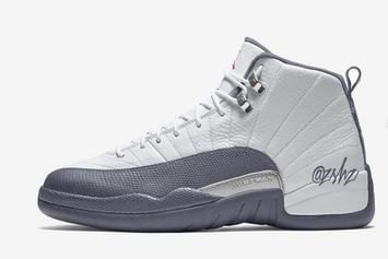 Air Jordan 12 Releasing In Clean White/Grey Colorway: First Look