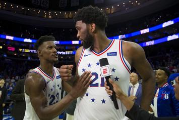 Joel Embiid Reacts To Jimmy Butler Leaving The 76ers: Watch