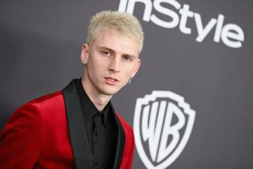 Machine Gun Kelly's Face Covered In Blood After Date With Daughter & Young Thug