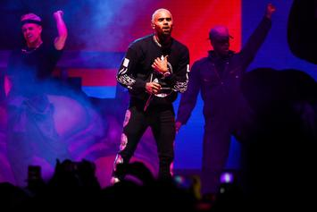 Chris Brown Premieres His Fire New Hairstyle... Literally