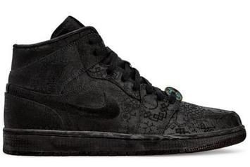"Clot x Air Jordan 1 ""Black"" Mid Release Date Revealed: Detailed Images"