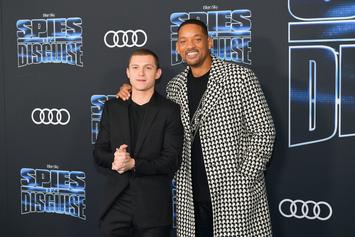 """Tom Holland & Will Smith Met For First Time In Escape Room After Filming """"Spies In Disguise"""""""
