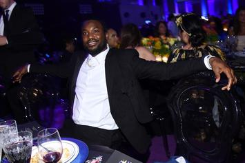 Meek Mill Drunk Freestyles Over Luther Vandross At Diddy's Birthday Party