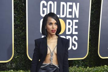Kerry Washington's Golden Globes Look Was A Blazer With Nothing Underneath