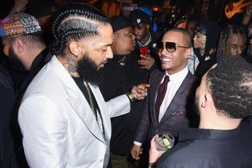 "T.I. Shares Vintage Nipsey Hussle Photo With Warning: ""Choose Your Words Carefully"""
