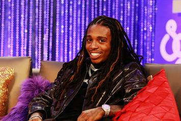 Jacquees Is All Smiles Next To Superfan Who Tattooed His Face On Her Back