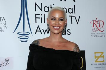 Amber Rose Debuts Massive Forehead Tattoo