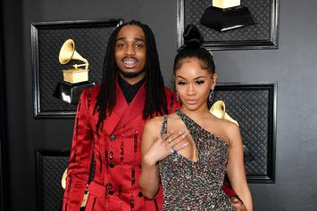 Quavo Surprises Saweetie In Bed For Valentine's Day