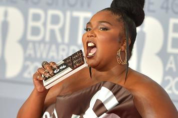 Lizzo Stuns In Chocolate Bar Dress