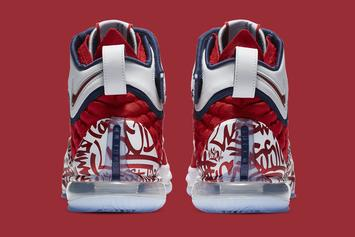 "Nike LeBron 17 ""Fire Red Graffiti"" Coming Soon: Official Images"