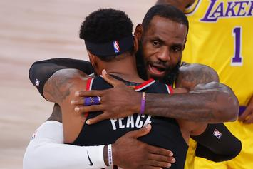 LeBron James & Carmelo Anthony Share A Moment After Playoff Series