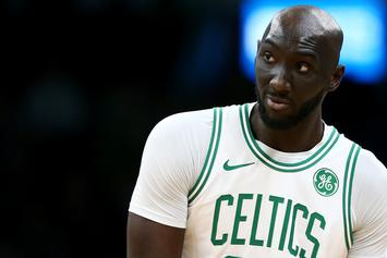 Tacko Fall Receives Swim Lessons From Jaylen Brown & Enes Kanter