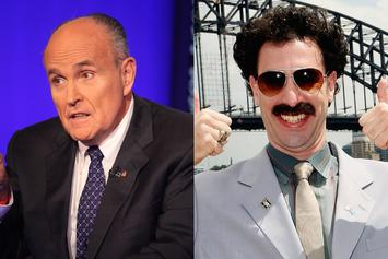 "Giuliani Allegedly Caught Slipping In ""Borat 2"" With Borat's Daughter"