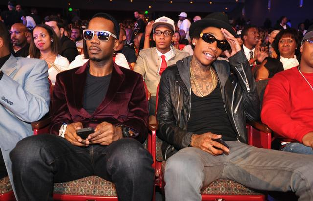 Wiz Khalifa and Juicy J at the 2012 BET Hip-Hop Awards